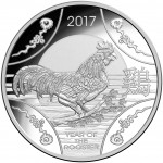 2017 Year of the Rooster $1 Silver Proof Coin