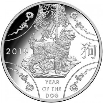 2018 Year of the Dog $1 Silver Proof Coin