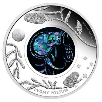 2013 AUSTRALIAN OPAL SERIES 1oz SILVER COIN - POSSUM