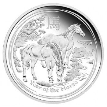2014 YEAR OF THE HORSE 1/2oz SILVER PROOF COIN