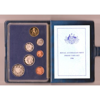 1986 Australian 7-Coin Proof Set