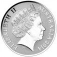 2014 Australia $1 Silver Frunc - Kangaroo - Explorers First Sighting