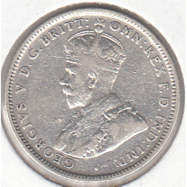 1918 AUSTRALIAN ONE SHILLING SILVER COIN FINE - Sydney Coins