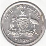 1926 AUSTRALIAN ONE SHILLING SILVER COIN gFINE