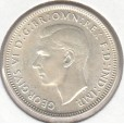 1944S AUSTRALIAN ONE SHILLING SILVER COIN GOOD VERY FINE
