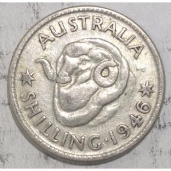 1946 AUSTRALIAN SILVER ONE SHILLING
