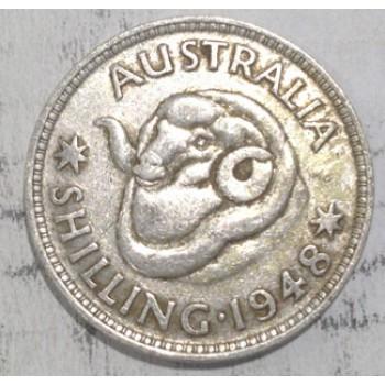 1948 AUSTRALIAN SILVER ONE SHILLING