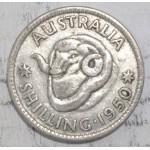 1950 AUSTRALIAN SILVER ONE SHILLING