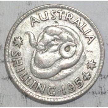 1954 AUSTRALIAN SILVER ONE SHILLING