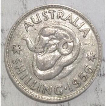 1956 AUSTRALIAN SILVER ONE SHILLING
