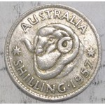 1957 AUSTRALIAN SILVER ONE SHILLING