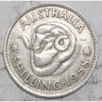 1958 AUSTRALIAN SILVER ONE SHILLING