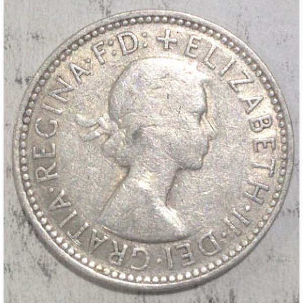1958 one shilling coin