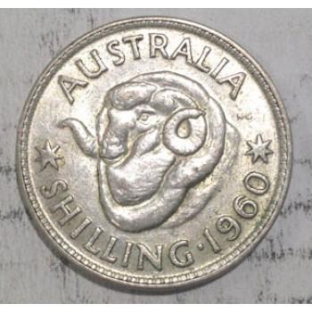 1960 AUSTRALIAN SILVER ONE SHILLING