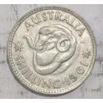 1961 AUSTRALIAN SILVER ONE SHILLING