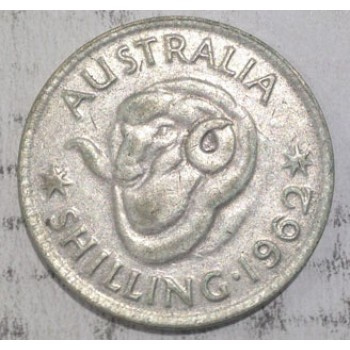 1962 AUSTRALIAN SILVER ONE SHILLING