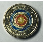 2018 $2 Coloured Coin Lest we Forget Coloured Coin