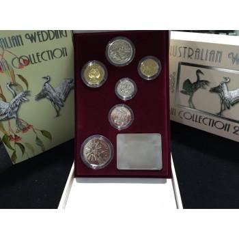 2002 Australian 6-Coin Wedding Set Gem Uncirculated