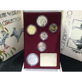 2004 Australian 6-Coin Wedding Gem Uncirculated Set